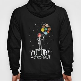 Future Astronaut With Planets product Gift For Girl Hoody