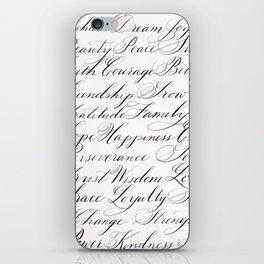 Inspirational Words II iPhone Skin