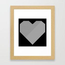 heart / black & white / Framed Art Print