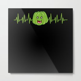 Heartbeat Jelly Delicious EKG Collection Metal Print