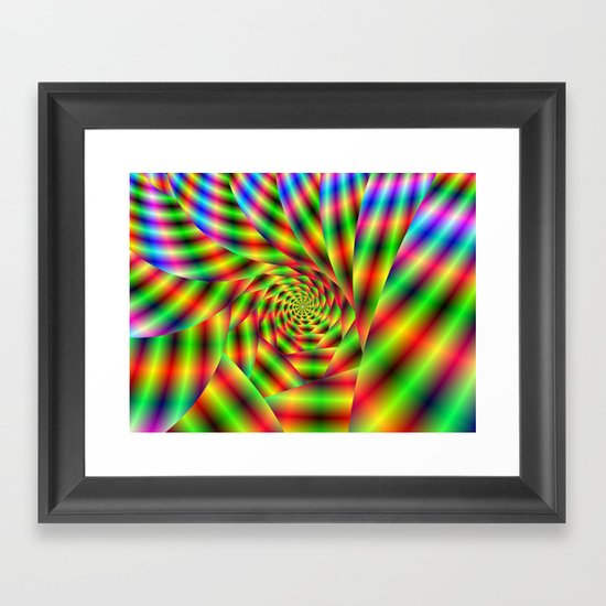 Psychedelic Spiral Framed Art Print
