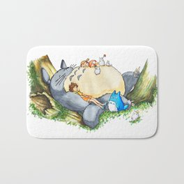 Ghibli forest illustration Bath Mat