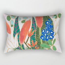 Nautical Striped Vase of Flowers Rectangular Pillow