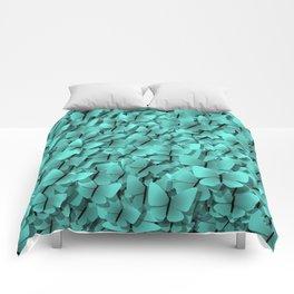 teal butterflies Comforters
