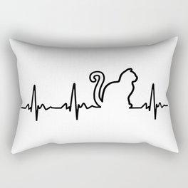 Cat Heartbeat Rectangular Pillow