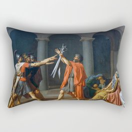 Oath of the Horatii by Jacques-Louis David Rectangular Pillow