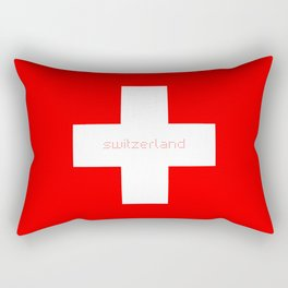 Swiss Cross - Swiss Flag Rectangular Pillow