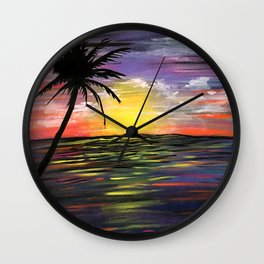 Sunset Sea Wall Clock