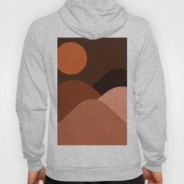 Abstraction_Mountains_SUN_MNIMALISM Hoody