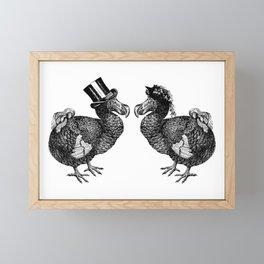 Mr and Mrs Dodo | Black and White Framed Mini Art Print