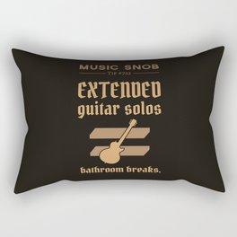 Solos = DON'T GO-s! — Music Snob Tip #723 Rectangular Pillow