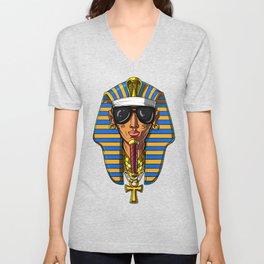 Egyptian Pharaoh Tutankhamon Gangsta King Tut Unisex V-Neck