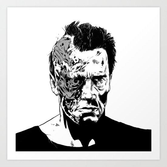 Terminator (b/w) Art Print