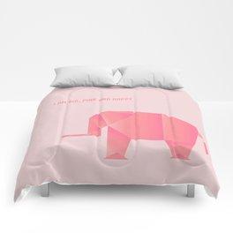 Big, Happy Elephant - Origami Pink Elephant Comforters