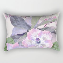 Tropical Botanical Lilac Rectangular Pillow