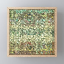 Abstract circle #4 Framed Mini Art Print