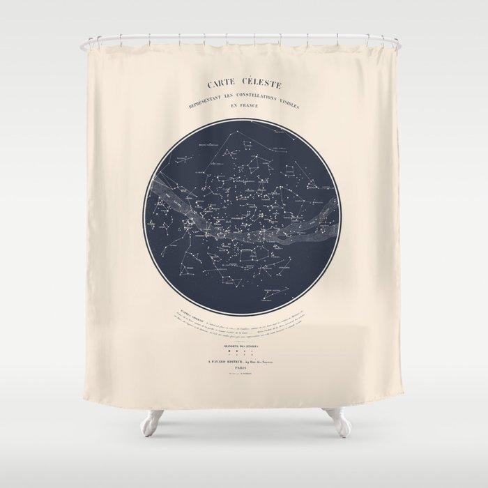 Carte Celeste Shower Curtain