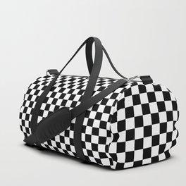 Black And White Checks Minimalist Sporttaschen