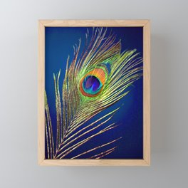 peacock feather Framed Mini Art Print