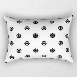 Dharma Wheel Pattern (Black and white) Rectangular Pillow
