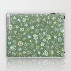 christmas snowy green Laptop & iPad Skin