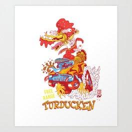 Free range turducken Art Print