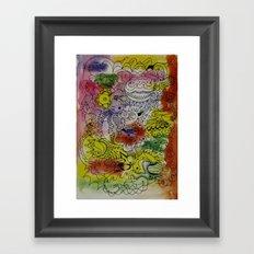 skribb skribbs 7 Framed Art Print