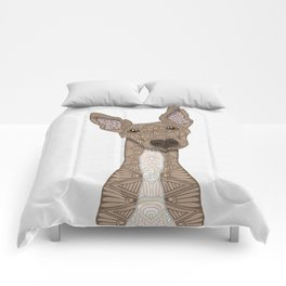 Cute Fawn & White Greyhound Comforters
