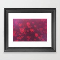 Neon Valentine Framed Art Print