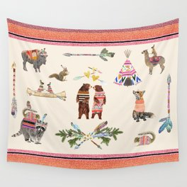 Animal Pyramid Wall Tapestry