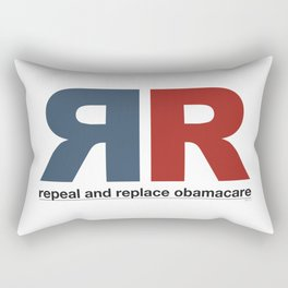 Repeal And Replace Obamacare Rectangular Pillow