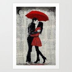 rain kisses Art Print