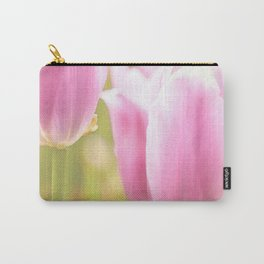 Spring is here with wonderful  colors - close-up of tulips flowers Carry-All Pouch