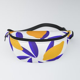 Blue and yellow Lemon Summery Pattern Fanny Pack