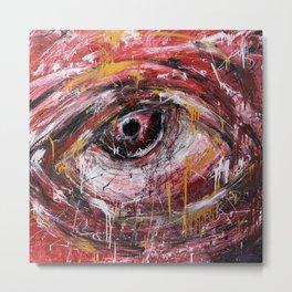 Left red eye Metal Print