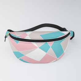 Broken Pattern (Pink-Turquoise) Fanny Pack