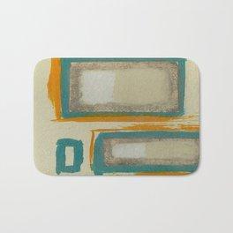Soft And Bold Rothko Inspired - Corbin Henry Modern Art - Teal Blue Orange Beige Badematte