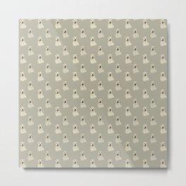 Labrador Love Pattern Metal Print