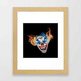 Dead Clown Barbecue Framed Art Print