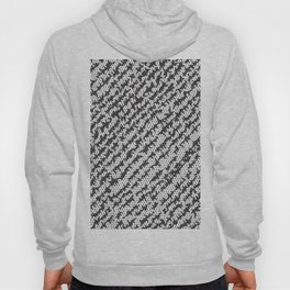 Modern White Black Popular Trendy Abstract Pattern Hoody