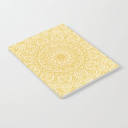 Most Detailed Mandala! Yellow Golden Color Intricate Detail Ethnic Mandalas Zentangle Maze Pattern Notebook