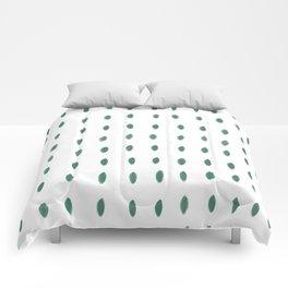 Paint Dabs in Green Comforters