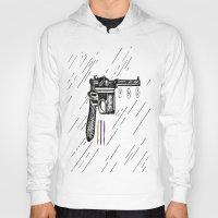 gun Hoodies featuring Gun  by Forrest Wright