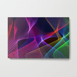 Rainbow Tornados Light Painting Metal Print