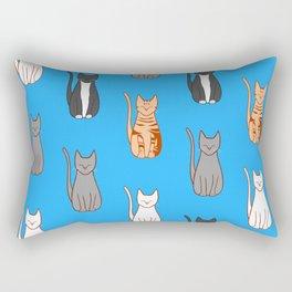 Cats Sitting Rectangular Pillow