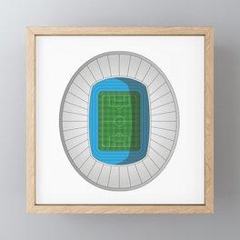 Football Stadium Framed Mini Art Print