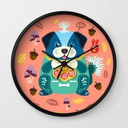 Good Luck Dog Wall Clock