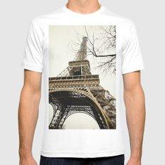 Le Tour Eiffel Mens Fitted Tee MEDIUM White