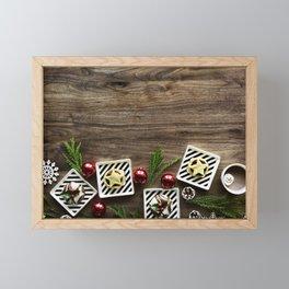 Rustic Farmhouse Christmas Holiday Decor Framed Mini Art Print