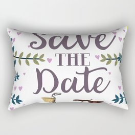 Save the Date Vintage bicycle Rectangular Pillow